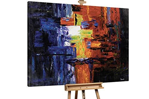KunstLoft® XXL Gemälde 'Warmes Verlangen' 200x150cm | original handgemalte Bilder | Abstrakt Bunt groß XXL | Leinwand-Bild Ölgemälde einteilig groß | Modernes Kunst Ölbild