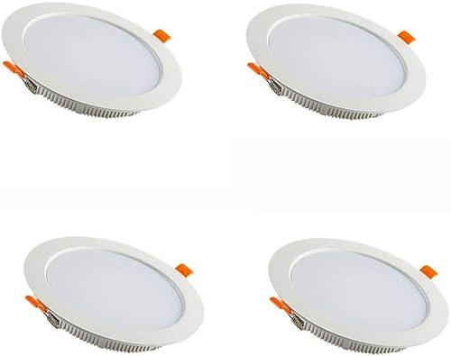 DEPAOSHJ 4 packs Matériau en aluminium à dissipation thermique élevée Indice de rendu des couleurs LED  75 éclairage ultra-plat Downlumière Plafonnier de plafond pour salle de séjour 6000K Température d