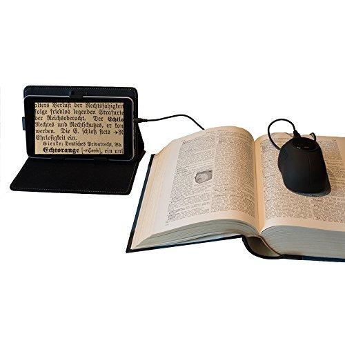 digiphot dm-70Lupe Digital für Tablet/TV Schwarz