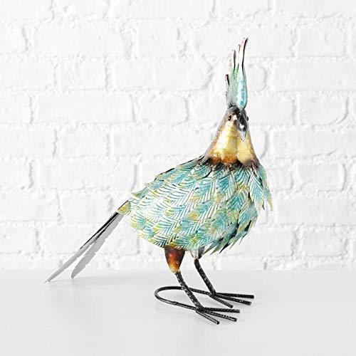 Objektkult Deko-Figur Kakadu Gringo, farbenfrohe Kakadufigur, 43 cm hoch, aus bunt lackiertem Eisen, als Gartenfigur oder auffällige Wohndeko, besonderes Geschenk für Gartenbesitzer