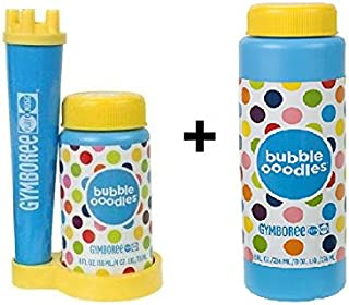 Gymboree Bubble Ooodles Toy Set with Wand Blower, Tray and 4oz Bubble Mixture and Bonus 8 oz Refill