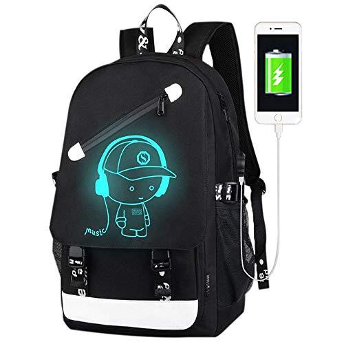 FLYMEI Anime Luminous Backpack for Boys, 15.6
