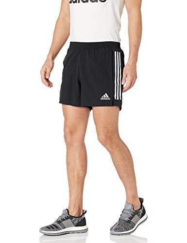 adidas mens Own The Run 3-Stripes Shorts Black Large