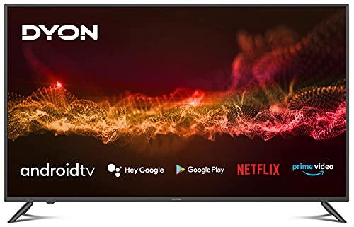 DYON Smart 50 AD 125,7 cm (50 Zoll) Android TV (4K Ultra-HD, HD Triple Tuner, Google Play Store, Google Assistant, Prime Video, Netflix, BT-Fernbedienung mit Mikrofon) [Modelljahr 2021]