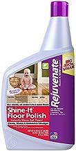 Rejuvenate Shine-It Floor Polish 40oz Renew and Protect Newer Hardwood Laminate Stone Vinyl Ceramic Tile Terrazzo Linoleum and Other Sealed Hard Flooring Surfaces