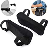 Chair Armrest Pads Foam Memory Comfortable Elbow Pillows for Office Chair Arm Support Forearm Pressure Relief Universal Chair Arm Cover Wheelchair Comfy Gaming Chair Armrest, 2 Piece Set Black