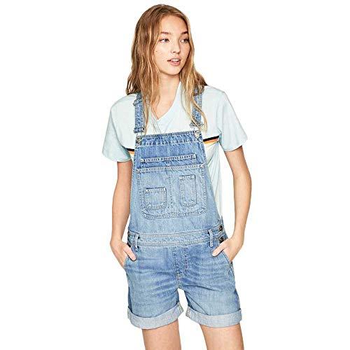 Pepe Jeans Pantalones de peto, Azul (Denim 000), XX-Small para Mujer