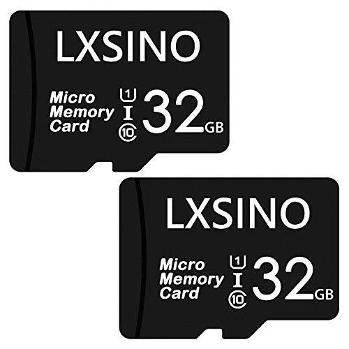 LXSINO Micro-SD-Karte, 32 GB, Speed-Class 10, U1, mit SD-Adapter 2 x (32 GB + Adapter)