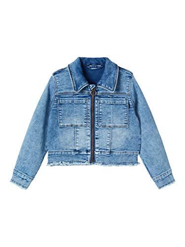 NAME IT Baby-Mädchen NMFADEA DNM 2344 SWE Jacket Jeansjacke, Medium Blue Denim, 80