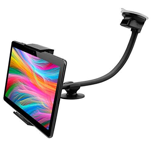 Porta Tablet Auto Ventosa cruscotto Parabrezza Doppia Ventosa valido per Tablet pc con Schermo Fino a 12  Supporto Tablet Auto Porta Tablet per Auto