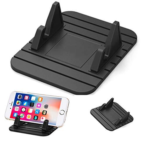 Car Phone Holder Anti-Slip Silicone Dashboard Car Pad Mat Vehicle GPS Mount Universal Fit All Smartphones Black