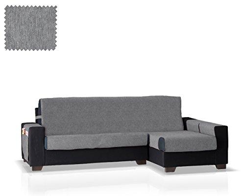 Funda de sofá Chaise Longue Larissa Brazo Derecho (Gris, pequeño - 200 Cm.)