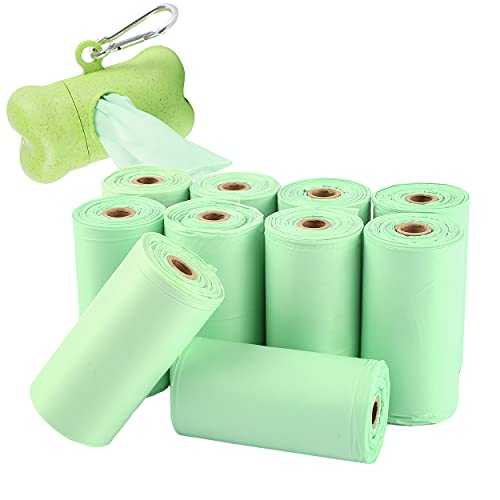 Bolsas Caca Perro 150 Bolsas 100{54998be0f54010f102434e3e654df0e1143aafc200401c30ad75774334de26f5} Biodegradables con 1 Dispensador, Bolsas Excrementos Perros Biodegradables para Excrementos Perros, Gatos, Mascotas Cuidar el Medio Ambiente