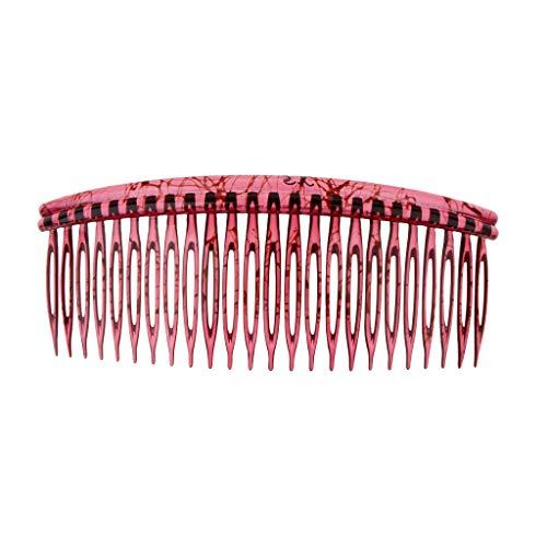 Fenteer Peigne à Cheveux Décoratifs,Grand Peigne, Accessoires de Lavage 12 x 5cm - Bourgogne
