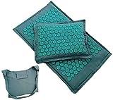 Lotus Spike - Esterilla de acupresión para masaje y almohada para yoga (azul)