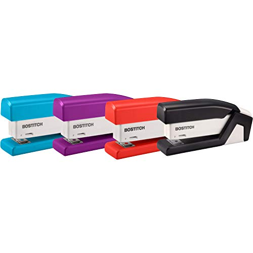 BOSTITCH Compact One-Finger 15-Sheet Stapler(ACI1558), Colors may vary
