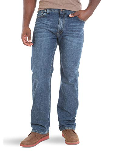 Wrangler Authentics Men's Regular Fit Comfort Flex Waist Jean, Blue Ocean, 38W x 30L