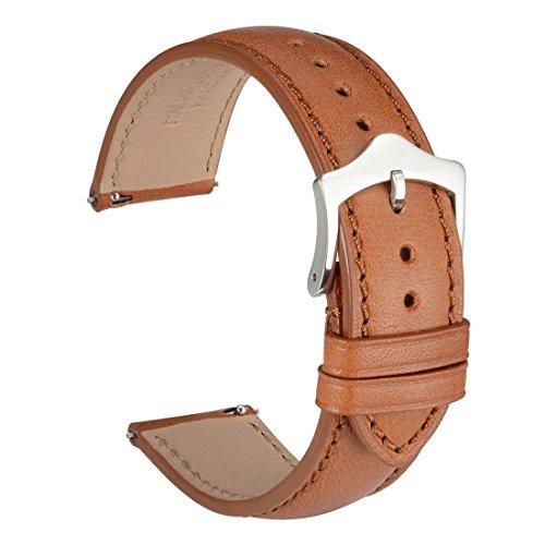 WOCCI 20mm Rilascio rapido cinturino orologio in pelle, sostituzione unisex...