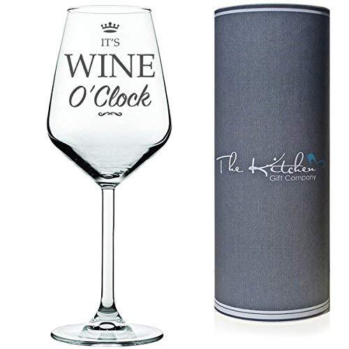 Divertente bicchiere per vino rosso/bianco presentato in un contenitore cilindrico da regalo