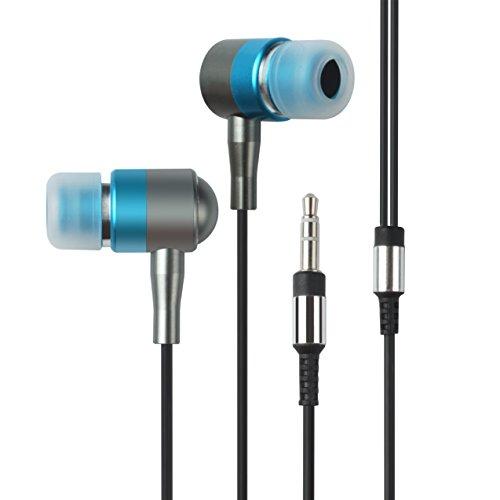 Francois et Mimi in-Ear 3.5mm Aux Hi-Fidelity Headphones Earbuds EP-342, Blue