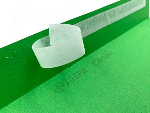 100 Umschläge mit Fenster, Grün, Grasgrün, DIN lang = 220 x 110 mm, Haftklebestreifen, Fensterkuverts