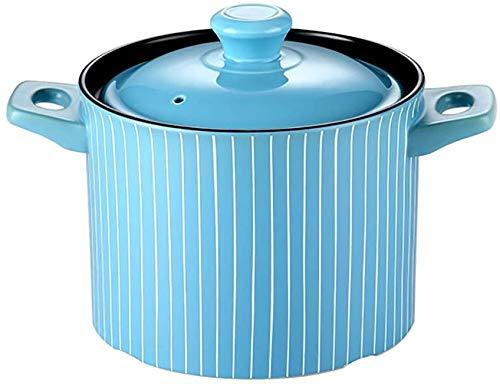 KaiKai Casserole Herd Haushalts Keramik Suppe Porridge Pot Reiskocher Gasherd Spezielle Brandhitzebeständige Gas Casserole Haushalt Keramik Suppe Suppentopf Reis Gesundheit (Größe: 4,5 l) FEOPW