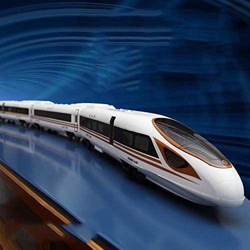 Lihgfw Fernbedienung Fuxing Hochgeschwindigkeitszug Harmony Kleine Zug-Spielzeug-High-Speed-Schiene Elektroauto Simulation Spur Super Long (Color : Harmony)