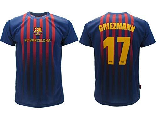 Maglia Calcio Antoine Griezmann 17 Barcellona Blau Grana FCB Stagione 2019-2020 Replica Ufficiale con Licenza - Tutte Le Taglie Bambino e Adulto (10 Anni)