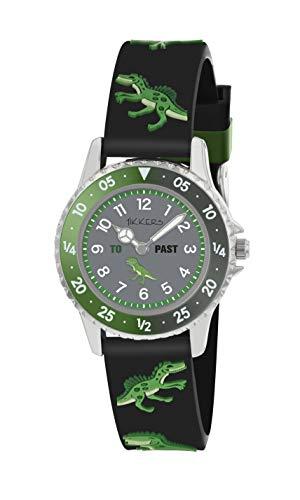 Tikkers NTK0022 Dinosaurier-Armbanduhr mit drehbarer Scheibe