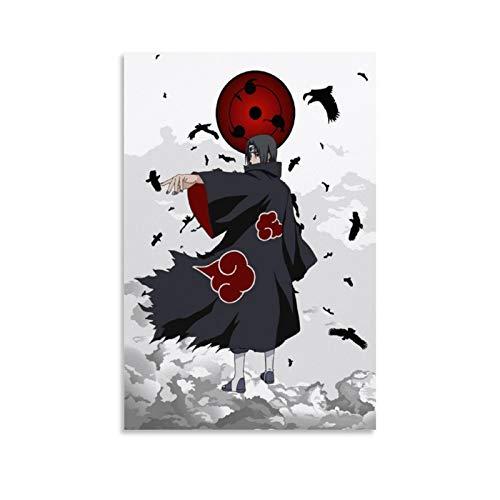 Huangchen Póster de anime de Naruto Akatsuki Itachi con dibujos animados de Naruto Akatsuki Itachi - Lienzo decorativo para pared (30 x 45 cm)