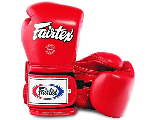Fairtex Heavy Hitter's Boxhandschuh - Mexican Style (BGV9), rot, 14 Unzen