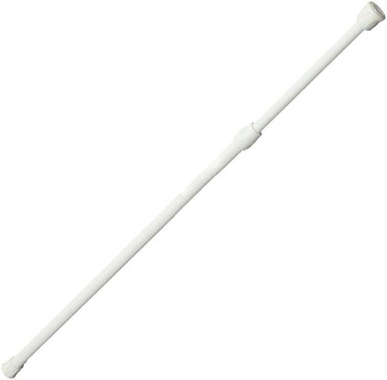 quanjucheer Barra telesc/ópica extensible para colgar cortinas y ventanas 40 a 75 cm barra de cortina de ducha color blanco