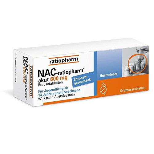 NAC-ratiopharm akut 600 mg Hustenlöser Brausetabl. 10 St Brausetabletten 10 St Brausetabletten