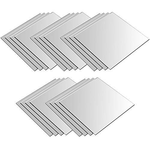 20 Stück Spiegelfliesen je 30x30cm Spiegelkachel Fliesenspiegel Spiegel Wanddekoration Wandspiegel Klebespiegel