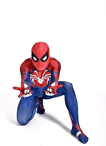 ASPIDER PS4 Spiderman Anime Kleidung Strumpfhosen Kind Erwachsene Halloween Kostümfest Thema Party Movie Requisiten (Farbe : Adult, größe : Small)