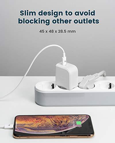 RAMPOW USB C Ladegerät, 20W USB C Ladegerät mit Power Delivery 3.0, USB C Netzteil für iPhone 11 Pro,Samsung Galaxy S20, Huawei Mate 30 Pro, HTC 10, iPad Pro, Microsoft Surface und mehr - Weiß