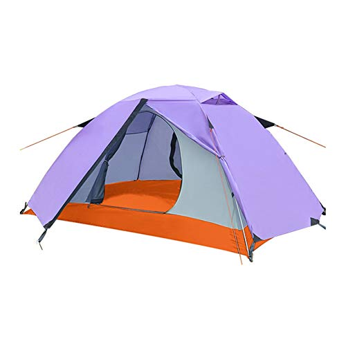 WZLJW Double Layer Tents,Outdoor 2 People Dome Tent Compact Waterproof Ultralight Festival Tents For Picnics,Hiking,Fishing,Outdoor Purple 200cm