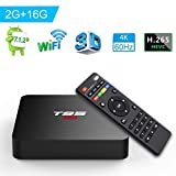 Android TV BOX, T95 S2 TV BOX 2GB RAM/16GB ROM Android 7.1 Amlogic S905W Quad Core Supporto 2.4Ghz...