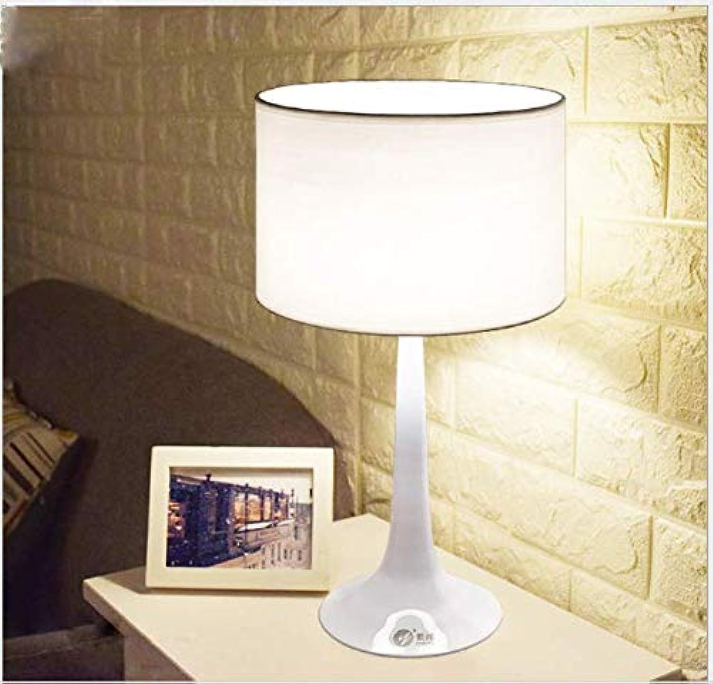Moderne einfache Tulpenartschreibtischtischlampetuchlesefernachttischlampe B W Farbe, wei