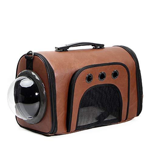 Aida Bz Sac de Chat Espace Capsule Pet Bag Out Portable Cat Cage épaule de la Main Sac de Chien Chat Sac Chat Out,Brown