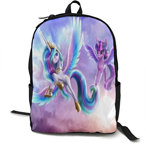 Cartoon Animation Mein kleines Pony Rucksack für Mann Leichte Reiserucksäcke Student Rucksack Business Langlebiger Rucksack mit großer Kapazität
