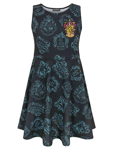 Harry Potter Hogwarts Houses Girl's Skater Dress (11-12 Years)