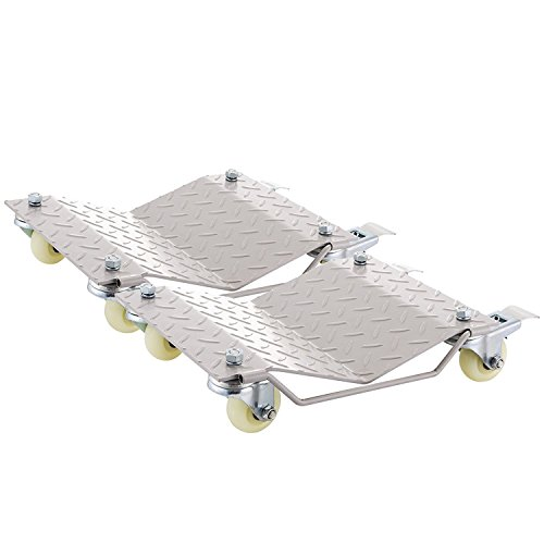 """BananaB Reifenwechsel set auto 2 Stücke Reifen Rad Dollies Silber 1500 Pfund pro Stück Car Wheel Dollies 12\""""X16\"""" mit 4 abnehmbaren Caster (2 Stücke)"""