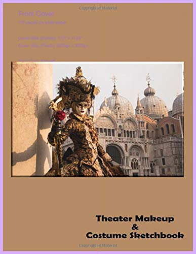 Theater Makeup And Costume Sketchbook: Victorian Scene Female Silhouette Performance Art Costume Design Workbook, Cosplay Idea Journal, Character Roleplay Outfit Ensemble, Drama Attire Notebook