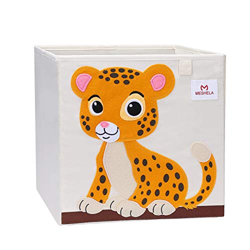 Meshela Aufbewahrungsbox für Kinderzimmer faltbarer waschbarer Cartoon Spielzeugkiste geeignet für Spielzeug, Kleidung, Kinderbücher Aufbewahrungskiste (Tiger)
