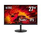 Acer XV0 (Nitro XV270Pbmiiprx) 68,6 cm (27 Zoll) IPS Monitor Matt (HDMI, DP, Full HD 1920 x 1080, 1 ms, 144 Hz, 400 Nits, Höhenverstellbar, Pivot, Free Sync) Schwarz