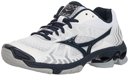 Mizuno Wave Bolt 7 Womens White-Navy 13 White/Navy