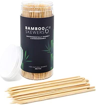 300 pack 6 bamboo skewers bbq skewers shish kabob skewers meat sticks chocolate dipping tool product image