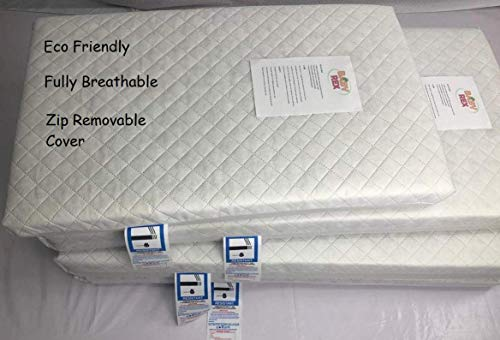 Baby Thick Travel Cot Mattress, fits Mothercare/Argos etc, 100 x 70 cm Breathable Antiallergenic/BABY REX