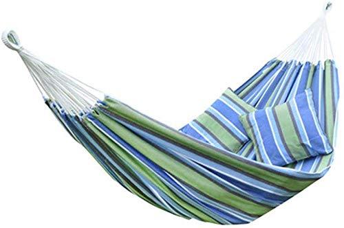 UWY Hamocks Swing Chair Hamaca para niños, Silla de Columpio portátil de algodón de Doble Color, Acampar o Jardines, a la Moda